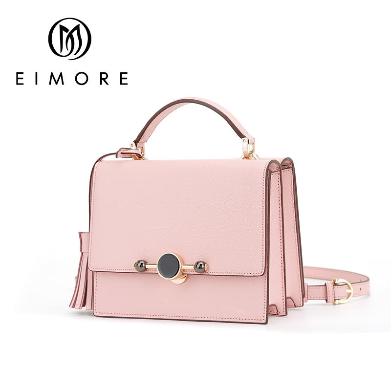 EIMORE 2019 New Trend Women Handbags Simple Flap Fashion Shoulder Bag Tassel Ladies bags Woman Messenger