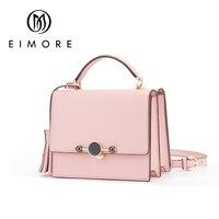 EIMORE 2018 новая тенденция Для женщин Сумки простой лоскут Мода Сумка кисточкой женские сумки женщина Сумка Розовый