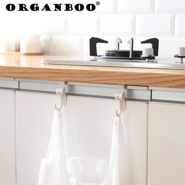 2pcsset Kitchen Sinks Cabinets Door Hooks Back Door Garbage Bags