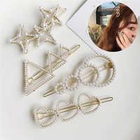 Clip de perla para el cabello para mujer horquilla perlas barrettes accesorios para el cabello para mujer perolas bobbypin CRI spinki do wosow horquilla