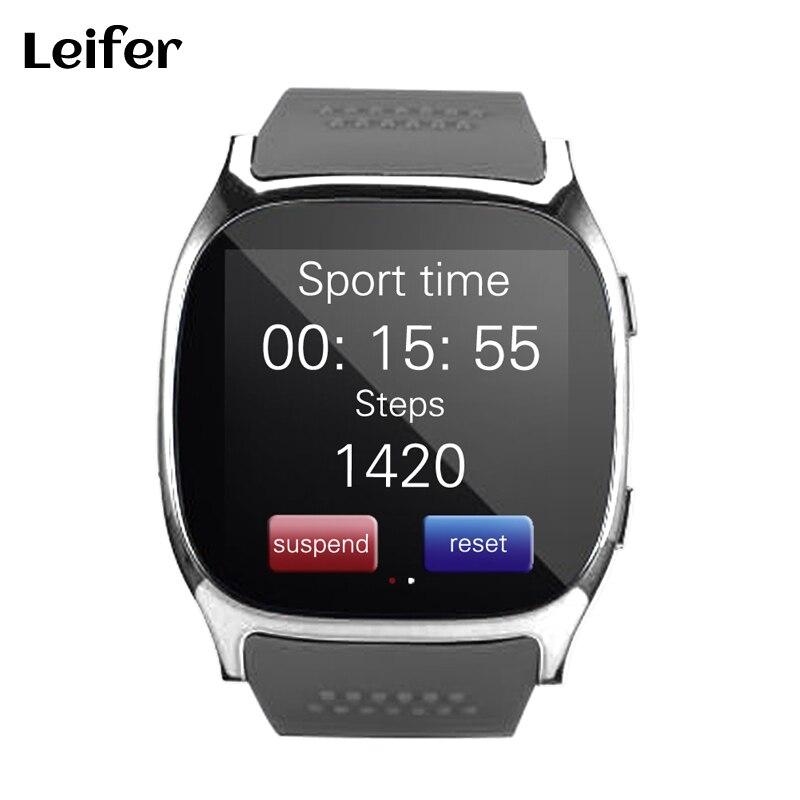 Leifer T8 Bluetooth Smart Uhr Mit Kamera Musik-player Facebook Whatsapp Sync SMS Smartwatch Unterstützung SIM TF Karte Für Android