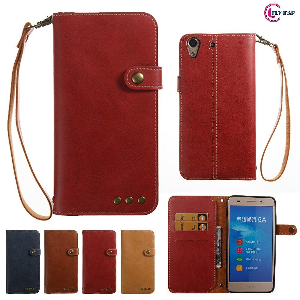 Мягкие Coque для huawei Y6 II Y6II CAM-L21 CAM-L23 случае Ретро Флип Бумажник Искусственная кожа Обложка для huawei Y 6 2 ii CAM-L32 телефона