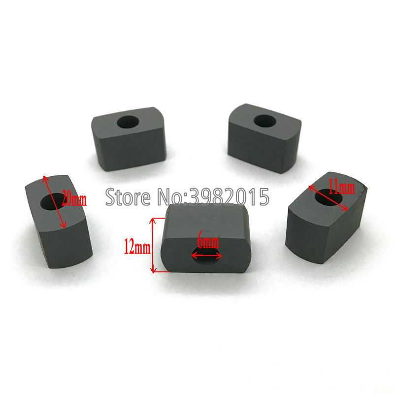 YG8 Tungsten Carbide Power Feed Contact Conductive Block 20*11*12*6mm for EDM Wire Cutting Machine image