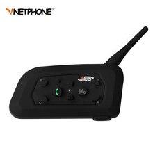 1200 M Sans Fil Bluetooth Casque de Moto Interphone 6 Coureurs Interphone Casque Support Mp3 Musique GPS 1 pcs Intercomunicador Moto