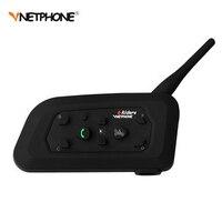 1200M Wireless Bluetooth Motorcycle Helmet Intercom 6 Riders Interphone Headset Support Mp3 Music GPS 1pcs Intercomunicador