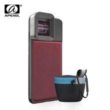 Apexel lente de câmera de smartphone hd, lente móvel, 1.33x widescreen, lente anamórfica, para vlogs, iphone, huawei