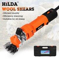 HILDA 220V Electric Sheep Shearing Clipper Scissors Shears Cutter Goat Horse Clipper Machine 6 Gears Speed 13 teeth blade