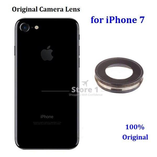 30c604bef 100% Original para Apple iPhone 7 lente de la Cámara; cubierta trasera de  la Lente de Cristal de la cámara para iPhone 7 4,7 pulgadas en Lentes de  teléfono ...