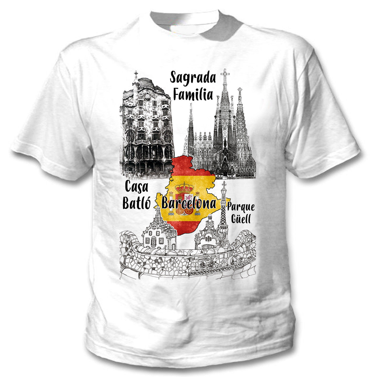 bea01c25a 2018-Men-T-Shirt-Fashion-BARCELONA-SPAIN-NEW-COTTON-WHITE-TSHIRT-Tee-shirt .jpg