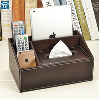 Leather Multi function Tissue Box Living Room Coffee Table Remote Control Storage Tray Creative Simple Home European Organizor