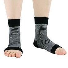 1 paio Supporto Della Caviglia Traspirante Compressione Nylon Spandex Manica Tacco Copertura Per Il Fitness Sicurezza E Prevenzione Nello Sport Ankle brace