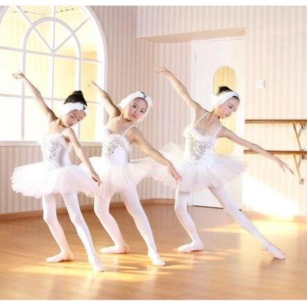 Free Shipping Kids Girls Classical Professional Ballet Tutu White Swan Lake Ballet Costumes For Sale