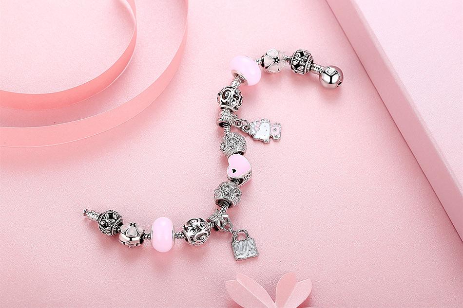 Cute Cat Kitty Charm Bracelet For Kids
