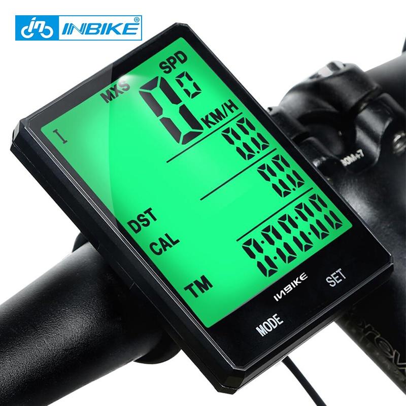 INBIKE 2.8inch Bike Wireless cadence Computer Rainproof Multifunction Bicycle Odometer Cycling Speedometer Stopwatch Backlight