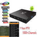 1 Ano Europa 1000 + Canais de IPTV Árabe Francês X96 Android 6.0 Smart Tv Box 2 GB RAM 16 GB ROM Amlogic S905X Caixa de IPTV Quad Core