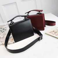 Yuhua, 2020 new women handbags, fashion Korean version shoulder bag, retro solid color woman bag, trend messenger bag.
