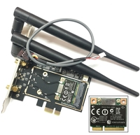 Atheros AR5B22 Bluetooth 4 0 Wifi 300Mbps Desktop Card Mini PCIe To PCIe Desktop Adapter With
