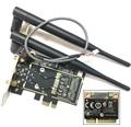 Atheros AR5B22 Bluetooth 4.0 wifi 300 Mbps Tarjeta Mini PCIe PCIe Adaptador de Escritorio de Escritorio con 2 unids Antena red tarjeta