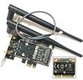 Atheros AR5B22 Bluetooth 4.0 wifi 300 Mbps de Desktop Cartão Mini PCIe para PCIe Adaptador de Desktop com 2 pcs Antena de rede cartão