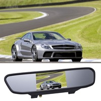 5inch 12V Universal HD Car Rearview Mirror Display LCD Digital DVD VCD Car Rearview Mirror Display
