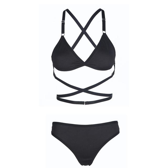 Missomo 2017 New Fashion Women Black Red Sexy Push Up Lace Wireless Bralettes Trim Underwear Soft Breathable Panties Bra Sets