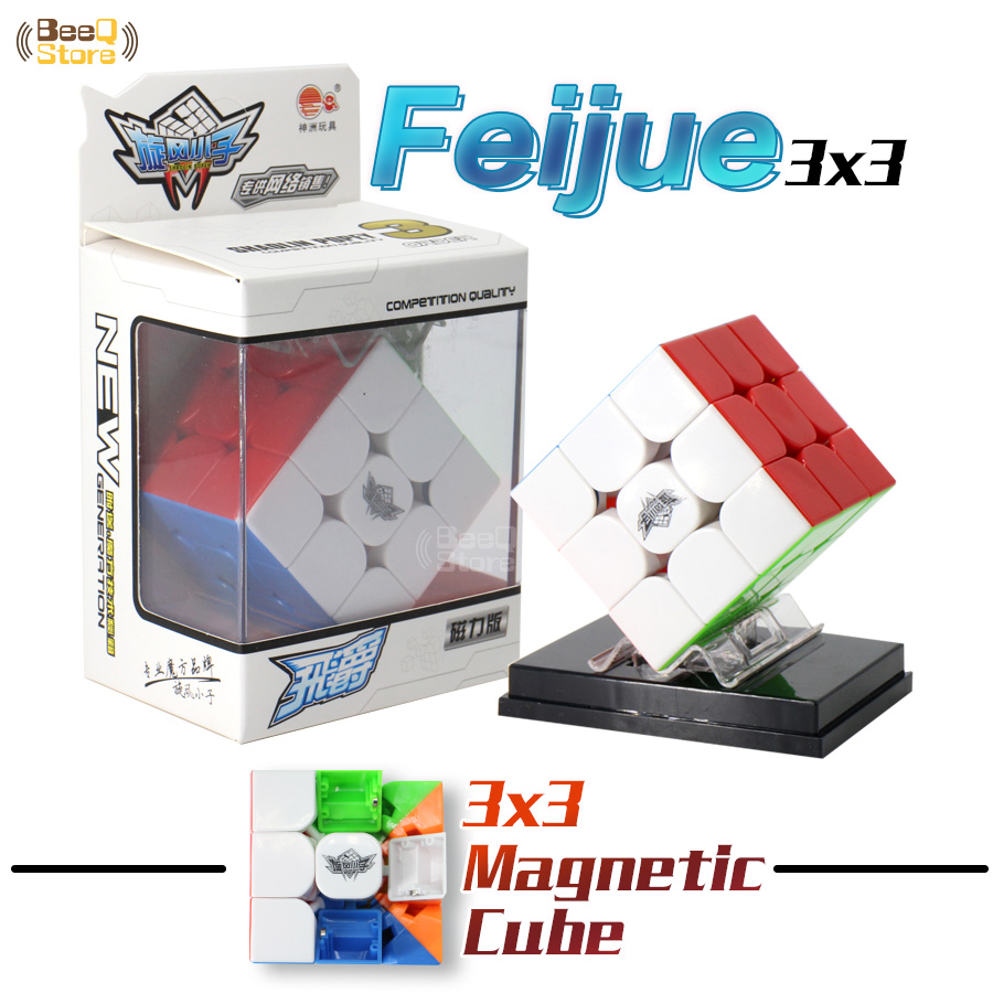 Ciclone meninos feijue cubo mágico magnético 3x3x3 cubo quebra-cabeça profisional jogador stickerless velocidade cubo 3x3 shaolin popey puzzle