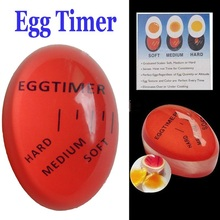 New Arrival Creative Kitchen Assistant Boiled Eggs Raw and Cooked Egg Timer Observer Creative Egg timer Free shipping
