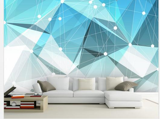 Customize wallpaper non woven 3d geometric abstract image for 3d wallpaper for home wall bangalore