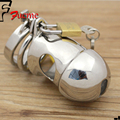 male chastity device,steel chastity ,love toys stainless steel male chastity lock belt Small cage free shipping adult product