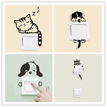 DIY Funny Cute Cat Dog Switch Stickers Wall Home Decoration Bedroom Parlor hot Cartoon  pacman