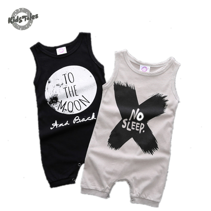 Kids Tales 2017 fashion sleeveless black baby boys rompers boy clothes newborn cotton baby boys clothing kids infant jumpsuit mother nest 3sets lot wholesale autumn toddle girl long sleeve baby clothing one piece boys baby pajamas infant clothes rompers