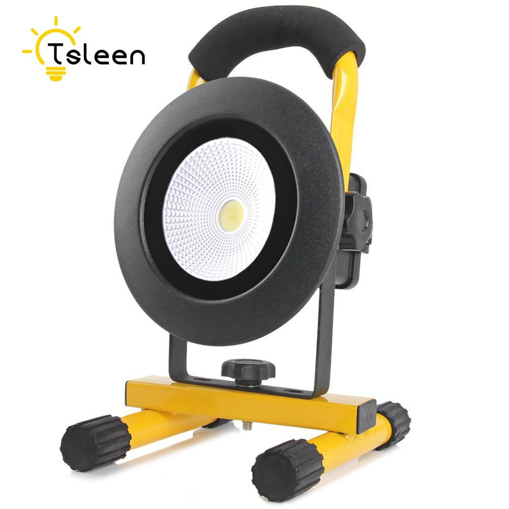цена на 20w/30W With/Without Battery 2017 Led Outdoor Light TSLEEN portable led flood spot light night work fishing outdoor camping lamp