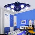 Кулон НЛО огни детская комната деко ШАМБРЕ гаркон подвесной светильник мальчик Светодиодная лампа для спальни деко Enfant ШАМБРЕ светильники