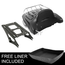 Motorcycle Moto Chopped Tour Pak Pack Trunk Backrest Two Up Rack For Harley Touring Road Street Glide Ultra-Classic 2014-2018 16