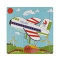 Мода Деревянный Самолет Головоломки Игрушки Для Детей Образование И Обучение Головоломки Игрушки Бесплатная Доставка