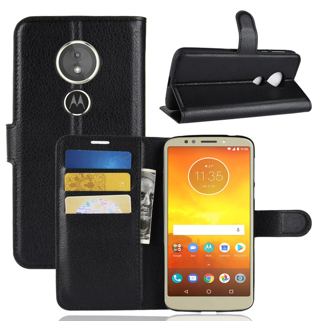 finest selection 46af3 7f55c US $3.28 |For Motorola Moto E5 Case Leather Flip Back Cover For 5.7 inches  For Motorola Moto E5 With Stand And Wallet-in Wallet Cases from Cellphones  ...