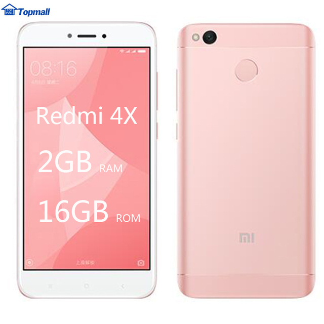 "Original Xiaomi Redmi 4X 2GB RAM 16GB ROM Snapdragon 435 Fingerprint ID 4100mAh Battery 5.0"" Metal Body"
