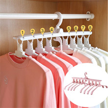 Multifunctional Magic Smart Hanger Storage Foldable Artifact Clothes Rack Household Drying Rack Clothing Multi-layer Folding simple coat rack multifunctional living room storage rack creative household clothes hangers furniture clothing store hanger