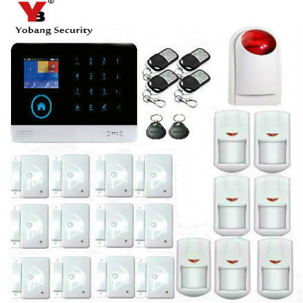 YoBang Security 3G WCDMA/CDMA IOS Android APP Control Home Security Alarm System Smoke Fire Alarm PIR Motion Sensor Russian .