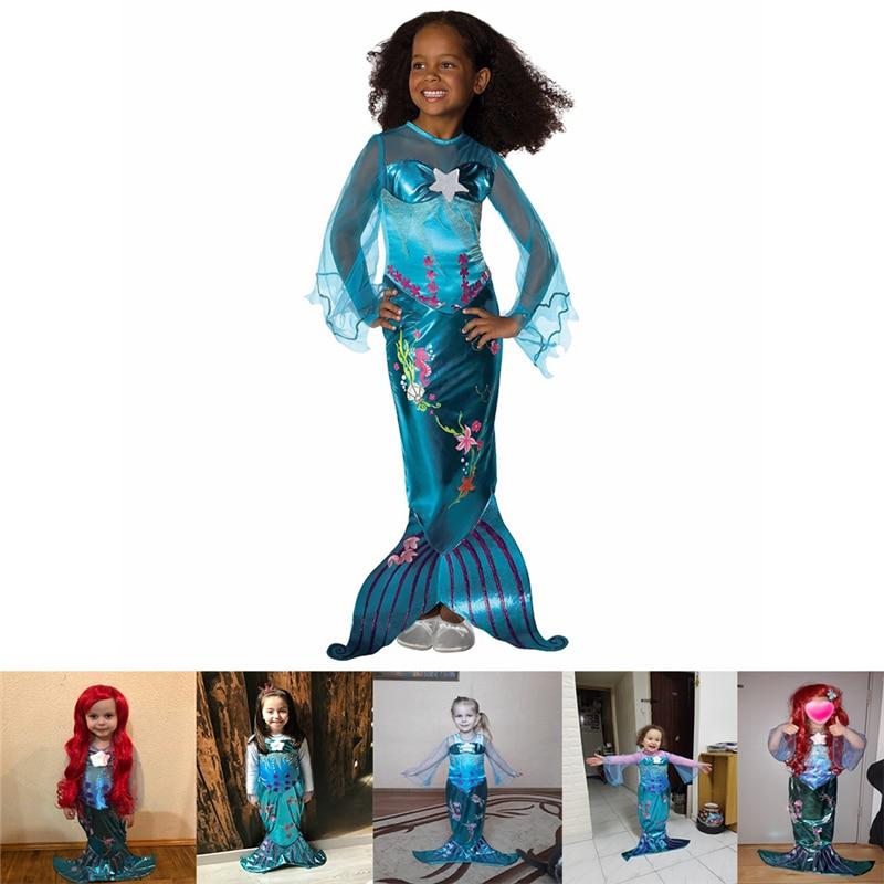 Daylebaby Little Mermaid Princess Ariel Costume Girls