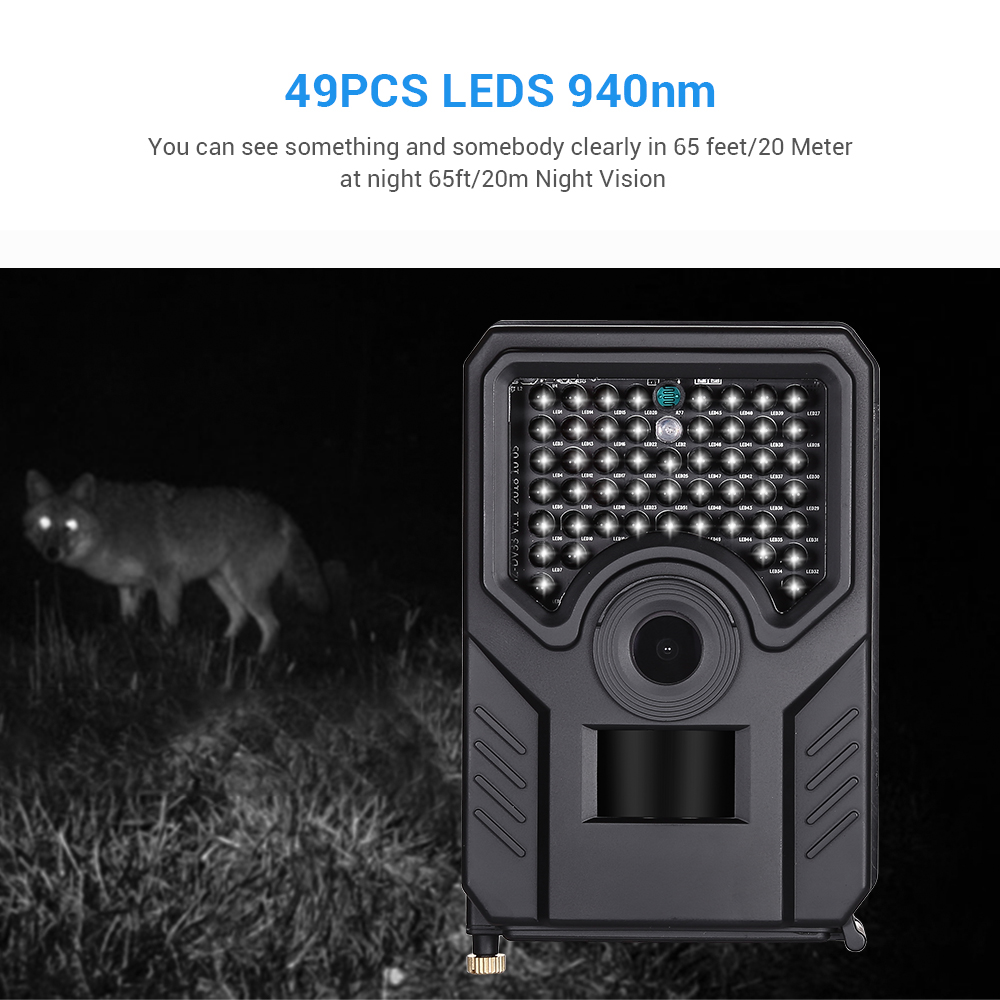 Image 3 - BOBLOV PR200 12MP 49PCS IR Leds Trail Hunting Camera FHD 1920*1080P 25FPS Waterproof Scouting Trail Camera BLACK-in Hunting Cameras from Sports & Entertainment