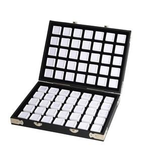 Image 2 - Yüksek kaliteli siyah deri taş seyahat kutusu elmas saklama kutusu takı tutucu 2.8cm 70 adet, 4cm 48 adet içinde mücevher kutusu taşınabilir