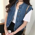 2016 summer arrival sleeveless plus denim vest women fashion waistcoat small vest short top