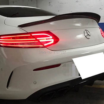 for Mercedes - Mercedes-Benz new C-class W205 2016-17 PSM Carbon Fiber Rear Roof Spoiler Wing Trunk Lip Boot Cover Car Styling