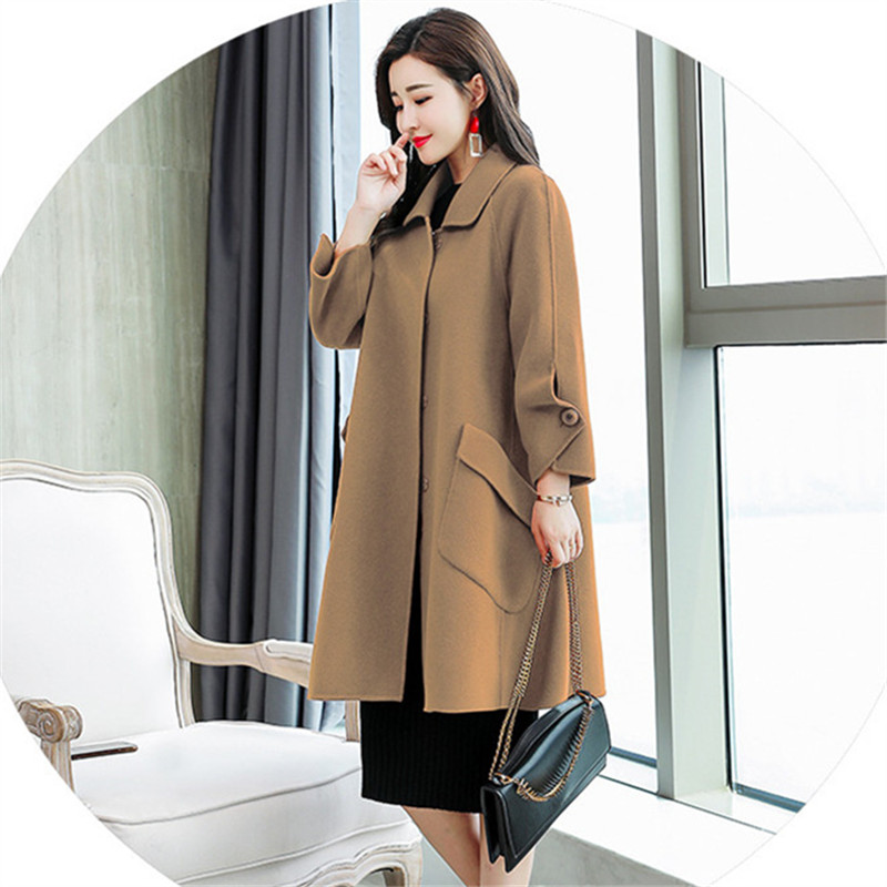 ac5eefb0f48 Women Cape Coats Winter 2018 Korean Style Warm Fashion Elegant Ladies Wool  Long Coat Plus Size Coat-in Wool   Blends from Women s Clothing on  Aliexpress.com ...