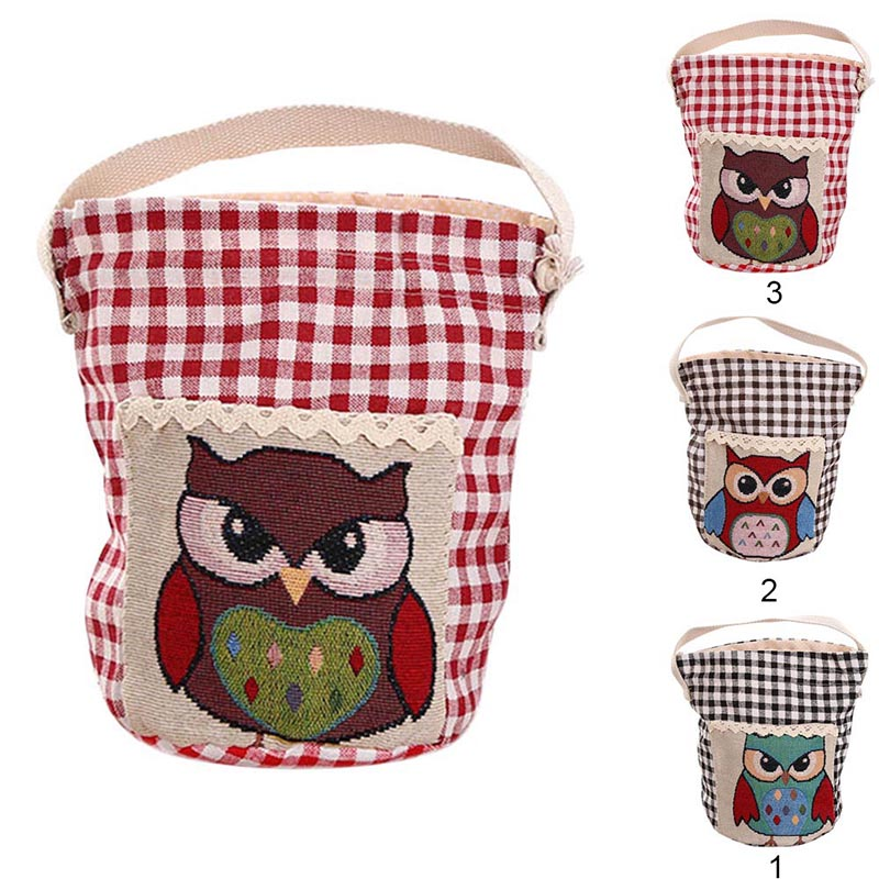 Cute Women Floral Animal Owl Shoulder Bag Small Coin Keys Pouch Purse Wallet Drawstring Handbag New LBY2017