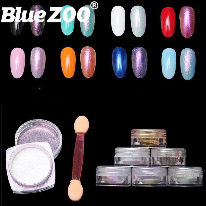 6 Colors Chameleon Paint Pigment Mirror Powder DIY Chrome