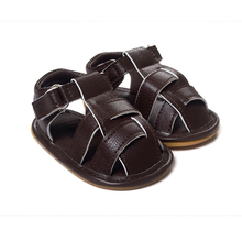 Дышащей подошве anti-slip сандалии летом мягкой обуви кровать мальчиков детская кожа