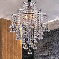Semplice di lusso k9 led lampade a sospensione per soggiorno sala da pranzo camera da letto decorazione lampade a sospensione di cristallo e14 combinazione za