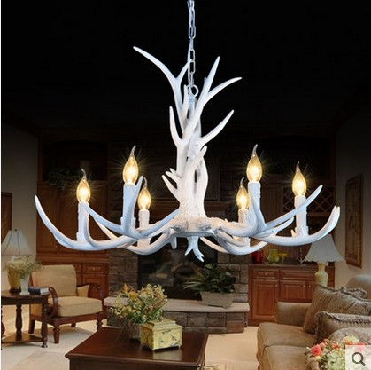 6/8/10 Heads American Retro Pendant Lamp Europe Country Fixture Resin Deer Horn Antler Chandeliers Decoration, E14 110-220V art deco retro wall lamp american country wall light resin deer horn antler lampshade decoration sconce free shipping